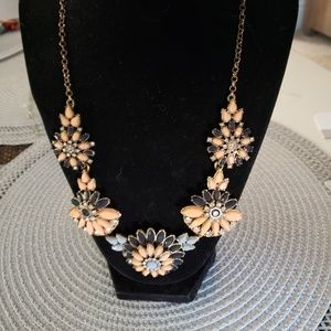 J CREW FLORAL NECKLACE